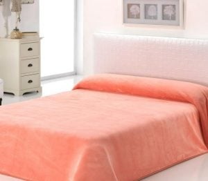 βελουτέ μονόχρωμη κουβέρτα