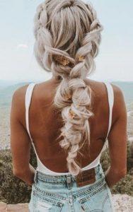 μοντέρνα πλεξούδα μαλλιών