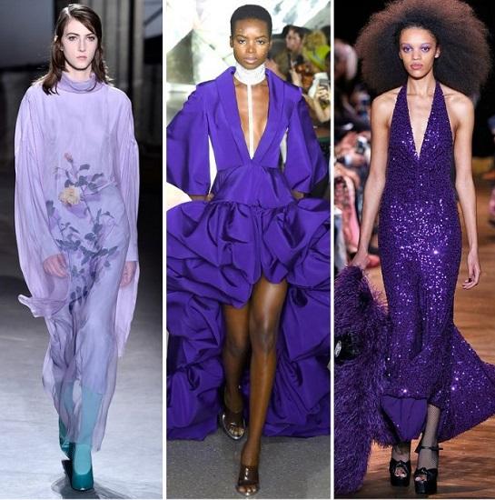 μοβ γυναικεία φορέματα χειμώνας 2020