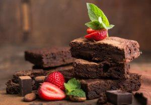 μπάρες σοκολάτας με φράουλες