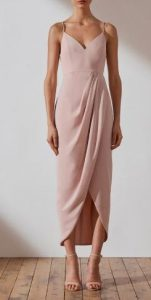 μπεζ κομψό φόρεμα