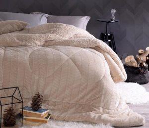μπεζ κουβερτοπάπλωμα μοντέρνα επιλογή για κρεβατοκάμαρα