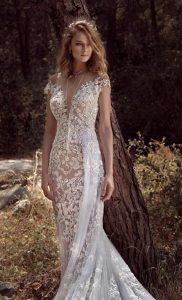 νύφη φόρεμα v λαιμόκοψη
