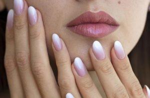 ομπρε γαλλικό μανικιούρ ροζ