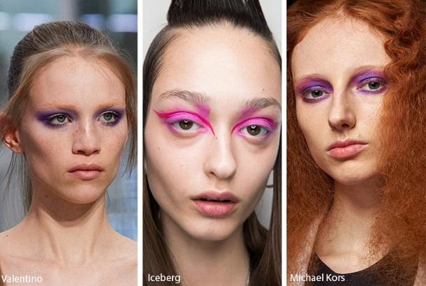 ροζ μοβ μακιγιάζ ματιών