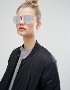 στρογγυλά γυαλιά ηλίου καθρέπτης