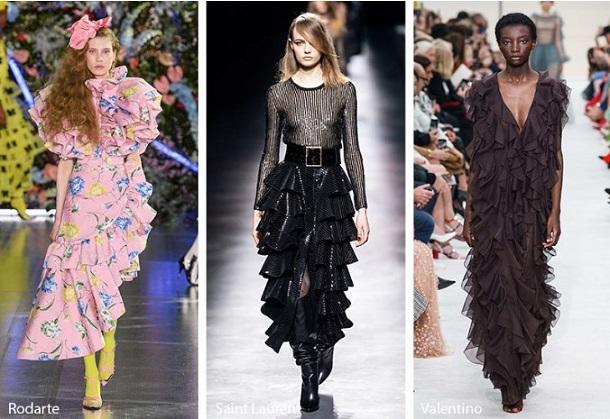 χειμερινά φορέματα με βολάν φθινόπωρο χειμώνας 2020