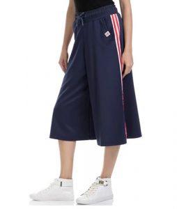 αθλητικό cropped παντελόνι μπλε με κόκκινη ρίγα