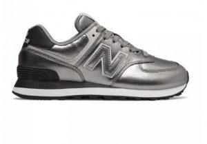 ασημί αθλητικά παπούτσια περιπάτου