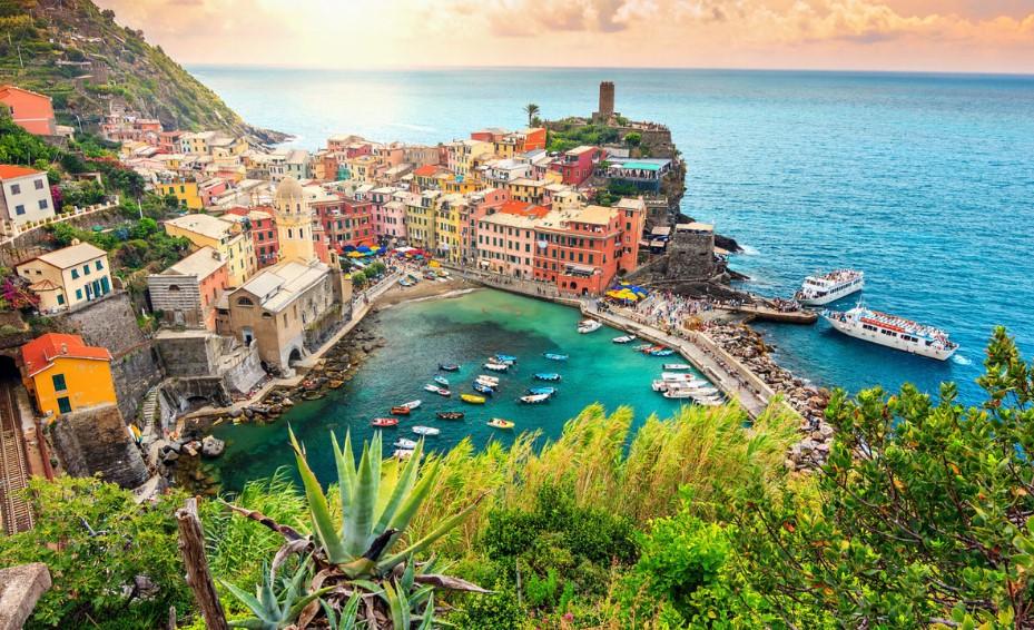 Cinque Terre Ιταλία θάλασσα ψαροχώρια