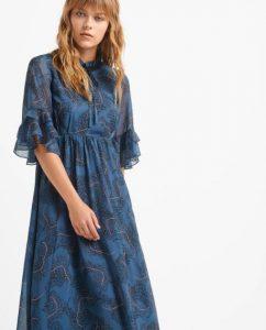 γυναικείο φόρεμα μακρύ με ημιδιαφάνεια