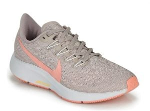 γκρι παπούτσια με ροζ σήμα γυναικεία για τρέξιμο γυμναστήριο