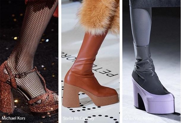 παπούτσια χοντρό τακούνι πλατφόρμα