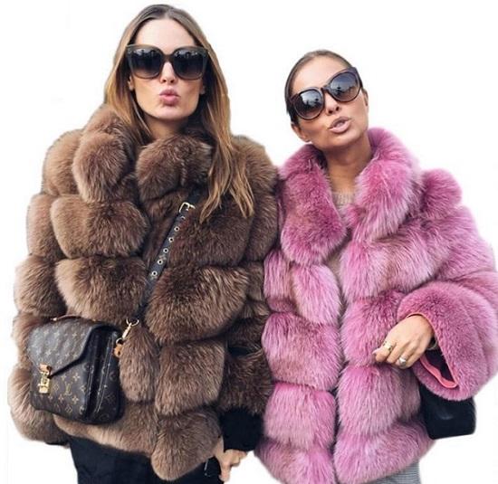 Faux γυναικεία γούνινα παλτό 2020