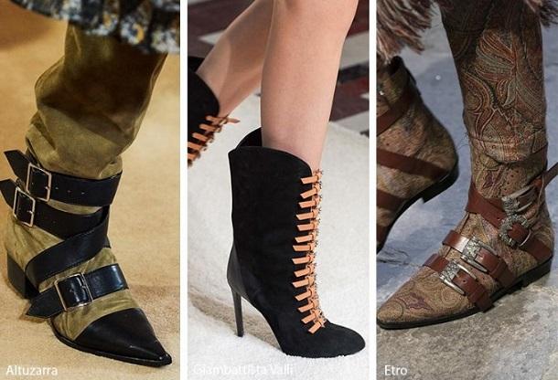 γυναικείες μπότες μποτάκια με λουράκια