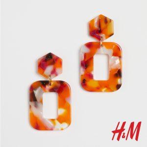 μεγάλα κοκάλινα σκουλαρίκια H&M