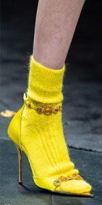 κίτρινη κάλτσα μάλλινη κίτρινο πέδιλο
