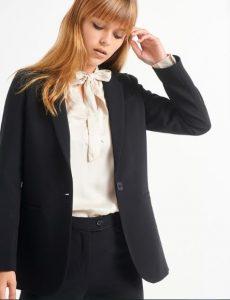 κλασσικό μαύρο σακάκι με κουμπιά