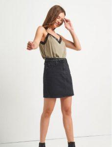 μαύρη γυναικεία φούστα Attrativo