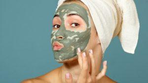 μάσκα από άργιλο πρόσωπο πράσινη