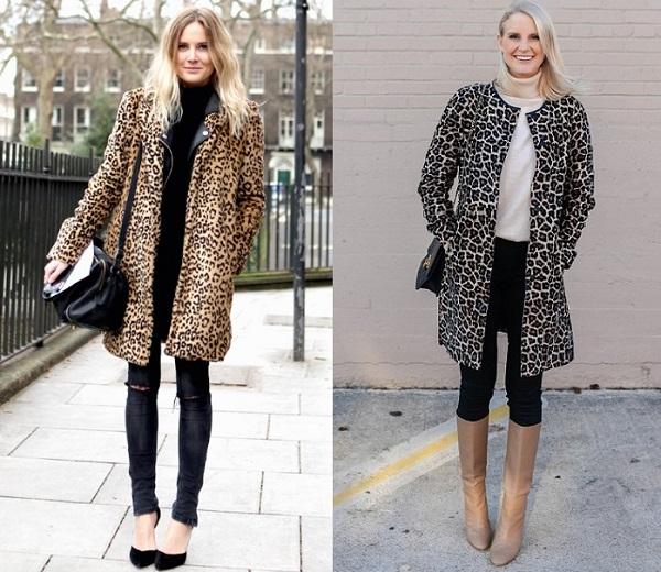 animal print γυναικεία παλτό