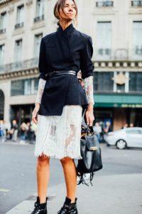 λεπτή μαύρη ζώνη φούστα στυλ ζώνης