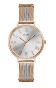ρολόι με δίχρωμο ροζ χρυσό με ασημί