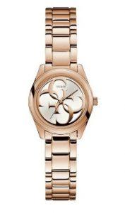 λεπτό ροζ χρυσό ρολόι με σχέδια στο καντράν αδιάβροχα ρολόγια μπρασελέ