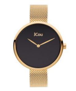 λεπτό χρυσό ρολόι με μαύρο καντρά αδιάβροχα ρολόγια μπρασελέ