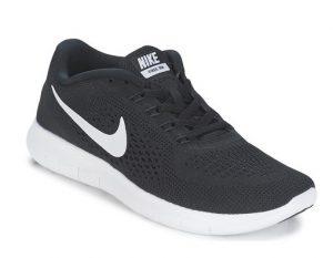 μαύρα αθλητικά παπούτσια με άσπρο σσήμα γυναικεία για τρέξιμο γυμναστήριο