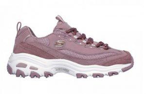 μοβ ροζ αθλητικό παπούτσια άσπρη χοντρή σόλα