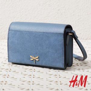 μπλε χιαστί τσάντα H&M