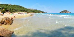 παραλία παράδεισος στην θάσο