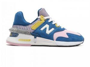 πολύχρωμο αθλητικό παπούτσι περιπάτου μπλε ροζ κίτρινο