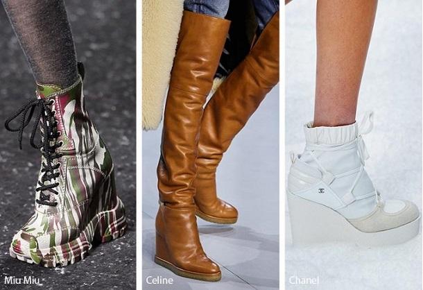 ψηλά γυναικεία παπούτσια Wedges
