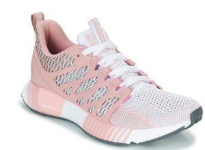 ροζ με άσπρο παπούτσια για τρέξιμο πλεκτά