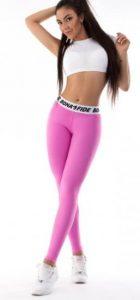 ροζ αθλητικό κολάν με λεπτομέρεια στη μέση