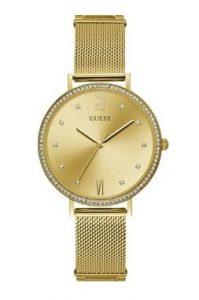 ρολόι με χρυσό μπρασελέ πέτρες ζιργκόν