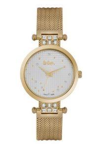 χρυσό κομψό ρολόι με μπρασελέ με πέτρες ζιργκόν αδιάβροχα ρολόγια μπρασελέ