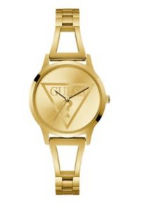 χρυσό μικρό ρολόι με ιδιαίτερο μπρασελέ