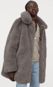 γυναικείο γούνινο παλτό h&m 2020