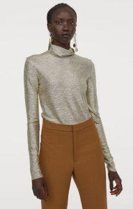 ασημί μεταλλική γυναικεία μπλούζα