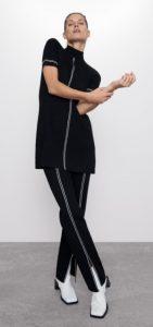 ασπρόμαυρο γυναικείο παντελόνι ρίγα στο πλάι ediva.gr