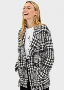 ασπρόμαυρο παλτό