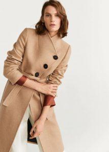 κάμελ παλτό με ζώνη