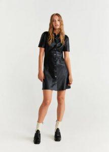 δερμάτινο κοντό φόρεμα