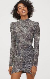 ντραπέ χειμωνιάτικο φόρεμα με βάτες