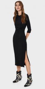 εφαρμοστό μαύρο φόρεμα