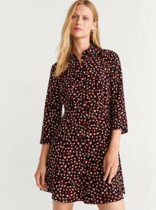 φόρεμα εμπριμέ πουκάμισο