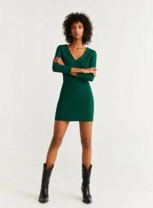 φόρεμα πράσινο εφαρμοστό